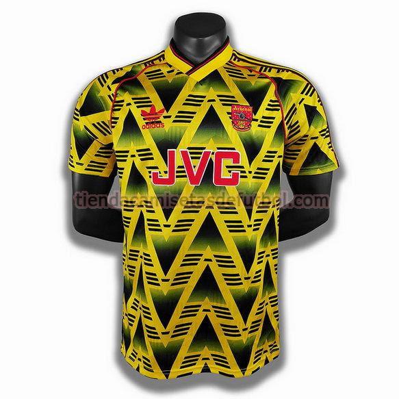 camiseta arsenal segunda player 1991 1993 hombre amarillo