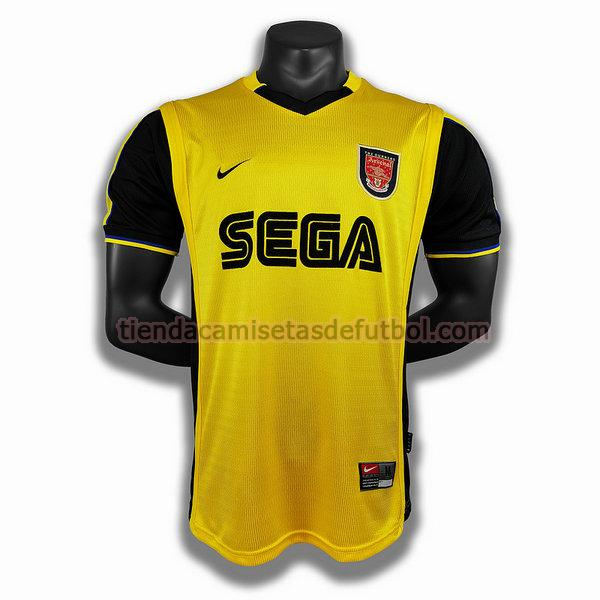 camiseta arsenal segunda player 1999 2000 hombre amarillo