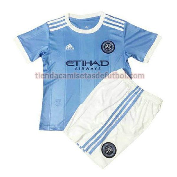 camiseta new york city primera 2021 22 niño azul