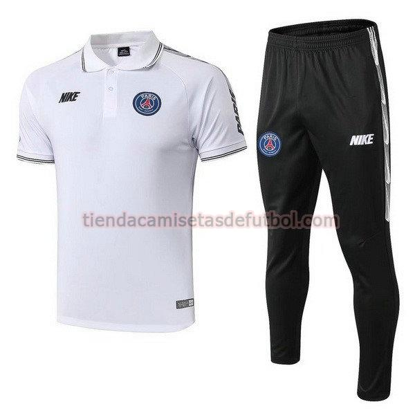 polo paris saint germain 2019-2020 conjunto hombre blanco