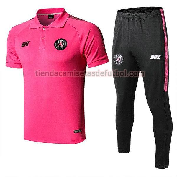 polo paris saint germain 2019-2020 conjunto hombre rosa negro